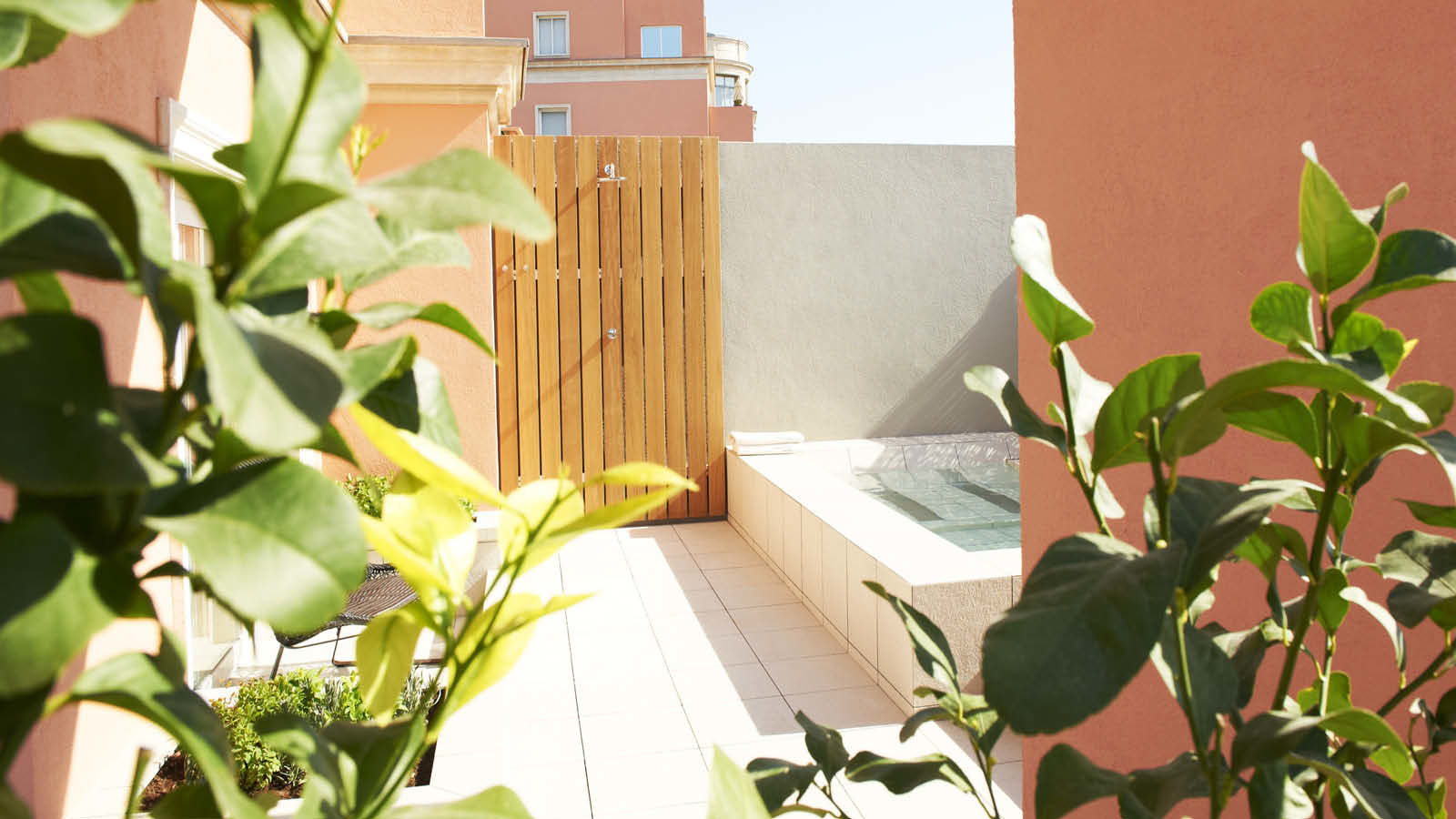 Explore Spa Studio terrace overlooking Barcelona | Le Méridien Barcelona
