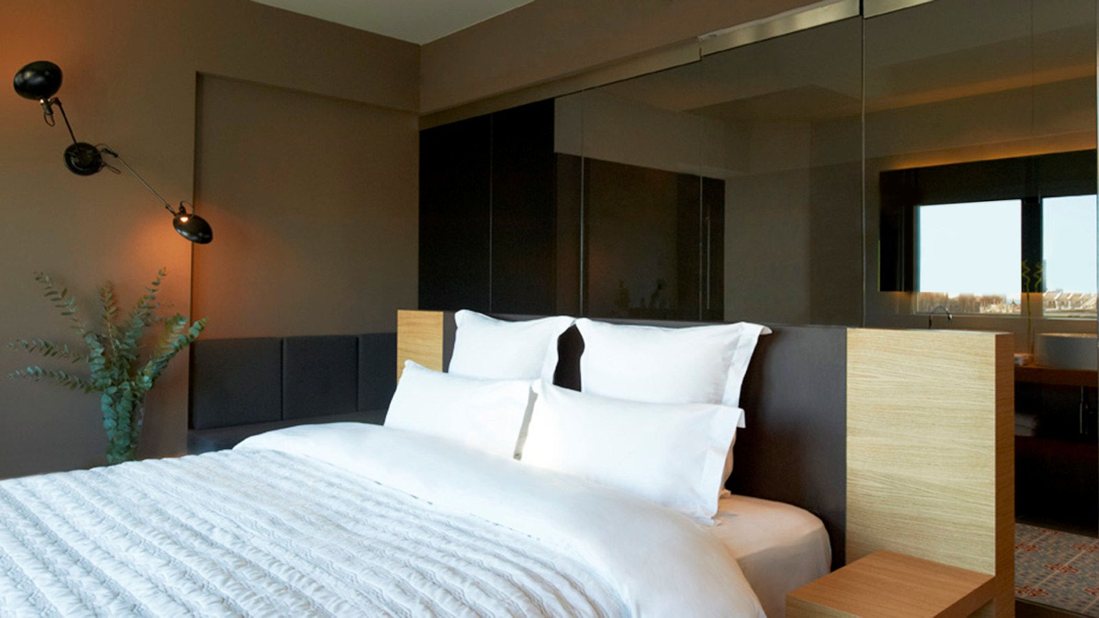 Spacious bedrooms in the Panoramic Suite
