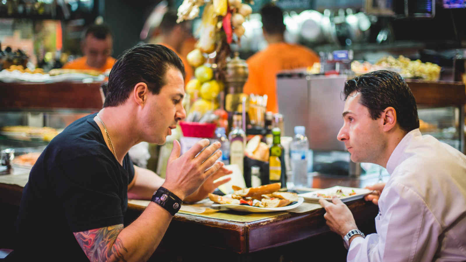 Johnny Iuzzini with Juan Camero - the Chef of Le Méridien Barcelona