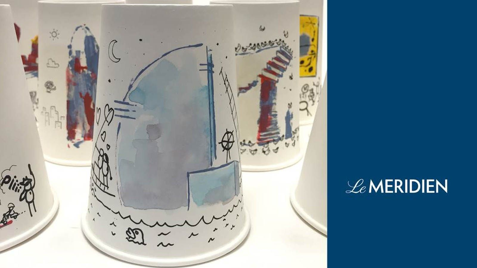Coffee cup by the artist by Chidy Wayne for Le Méridien Barcelona