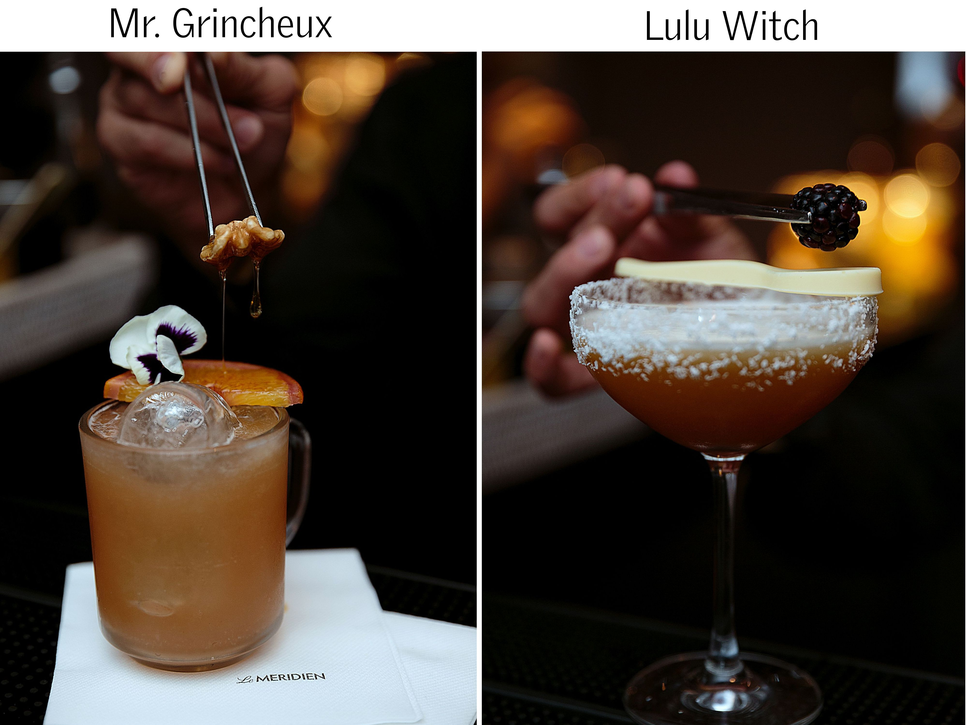Special Christmas Cocktails pairings at Le Pop Cocktail Bar