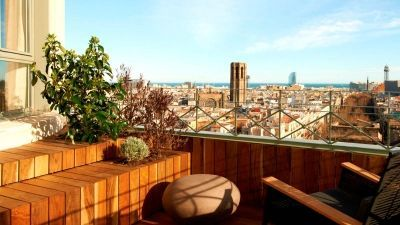 Magnificient views from the terrace of Le Méridien Barcelona