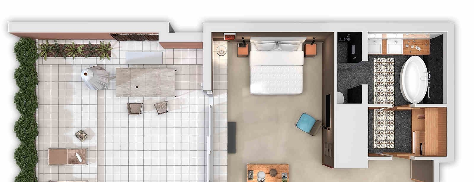 Grand Terrace Suite floorplan