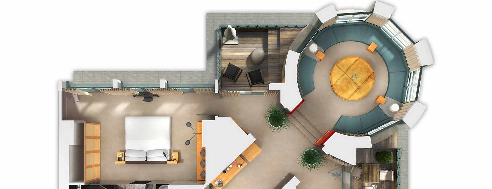 Panoramic Suite FloorPlans