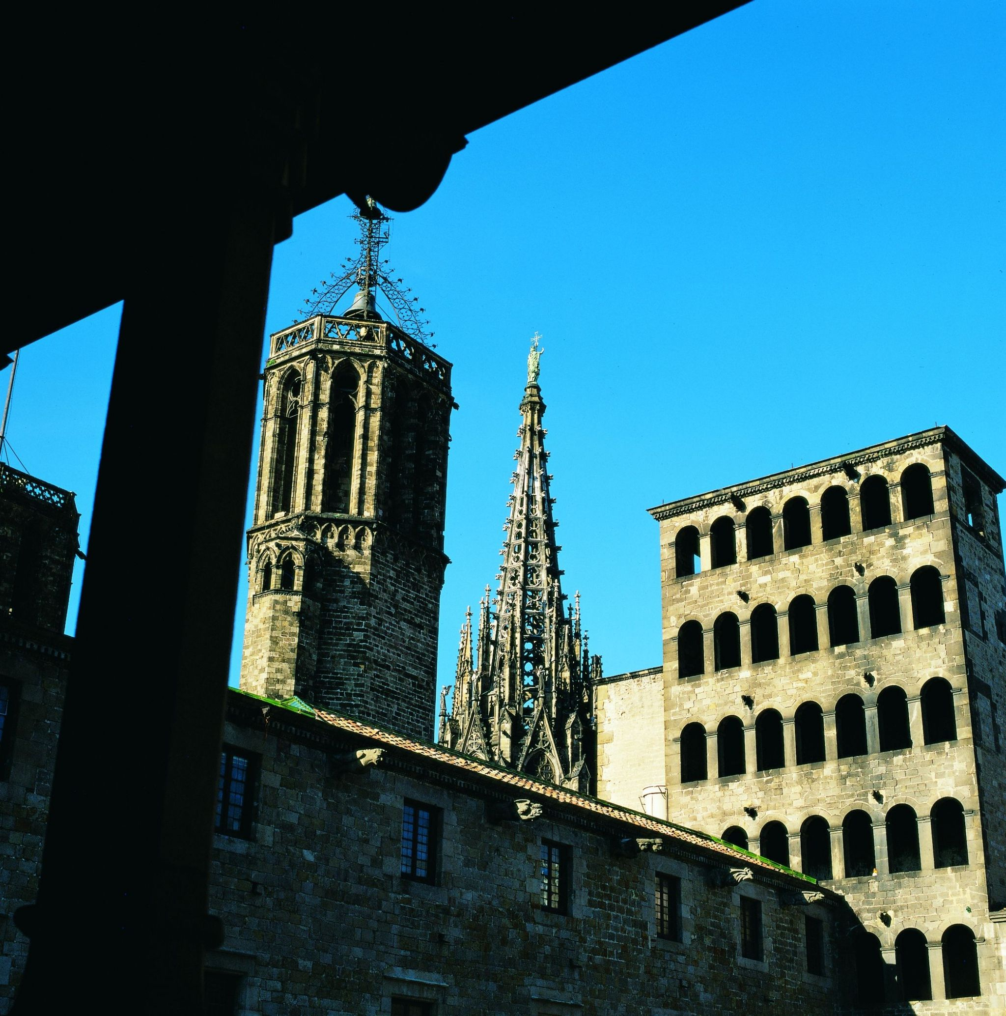 View of the Cathedral of the Holy Cross and Saint Eulalia