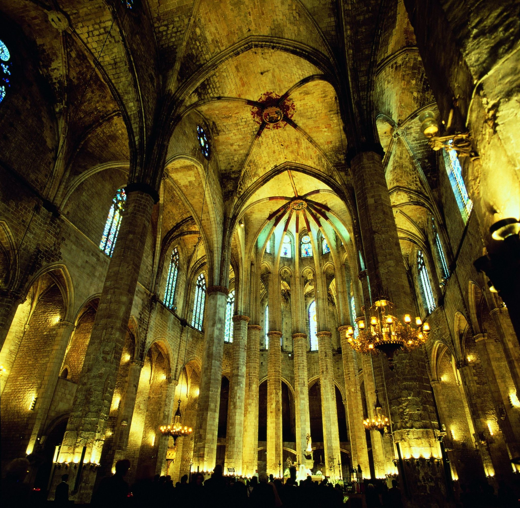 Interior view of Cathedral Santa Maria del Mar